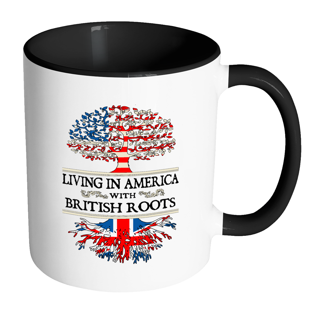 Living in America With British Roots Accent Mugs