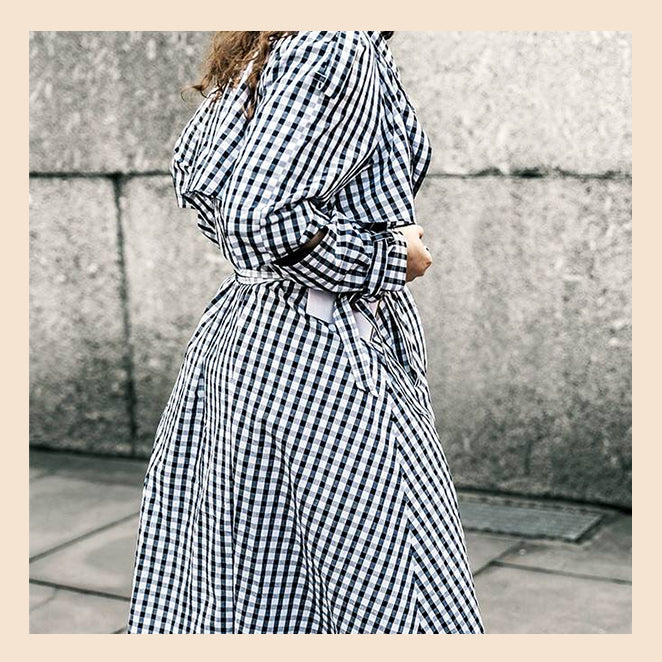 Nail the Gingham Trend, a maternity closet staple!
