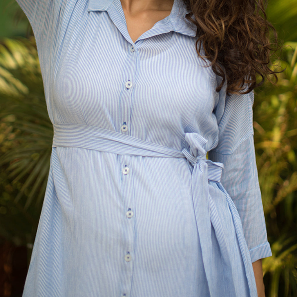Maternity-Dresses-Alexi-Shirt-Dress-Pale-Blue-on-White-Pinstripes-Image2