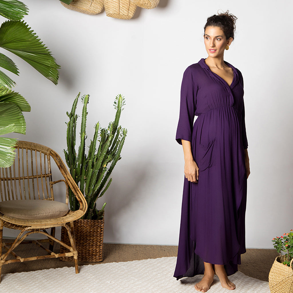 Maternity-Dresses-Nico-Maxi-Dress-Purple-Image2