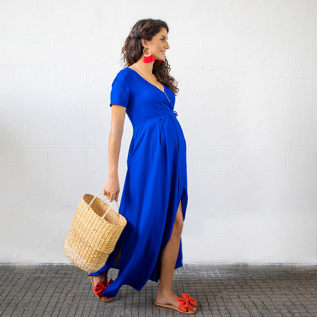 Maternity-Dresses-Selene-Moon-Dress-Azure-Blue