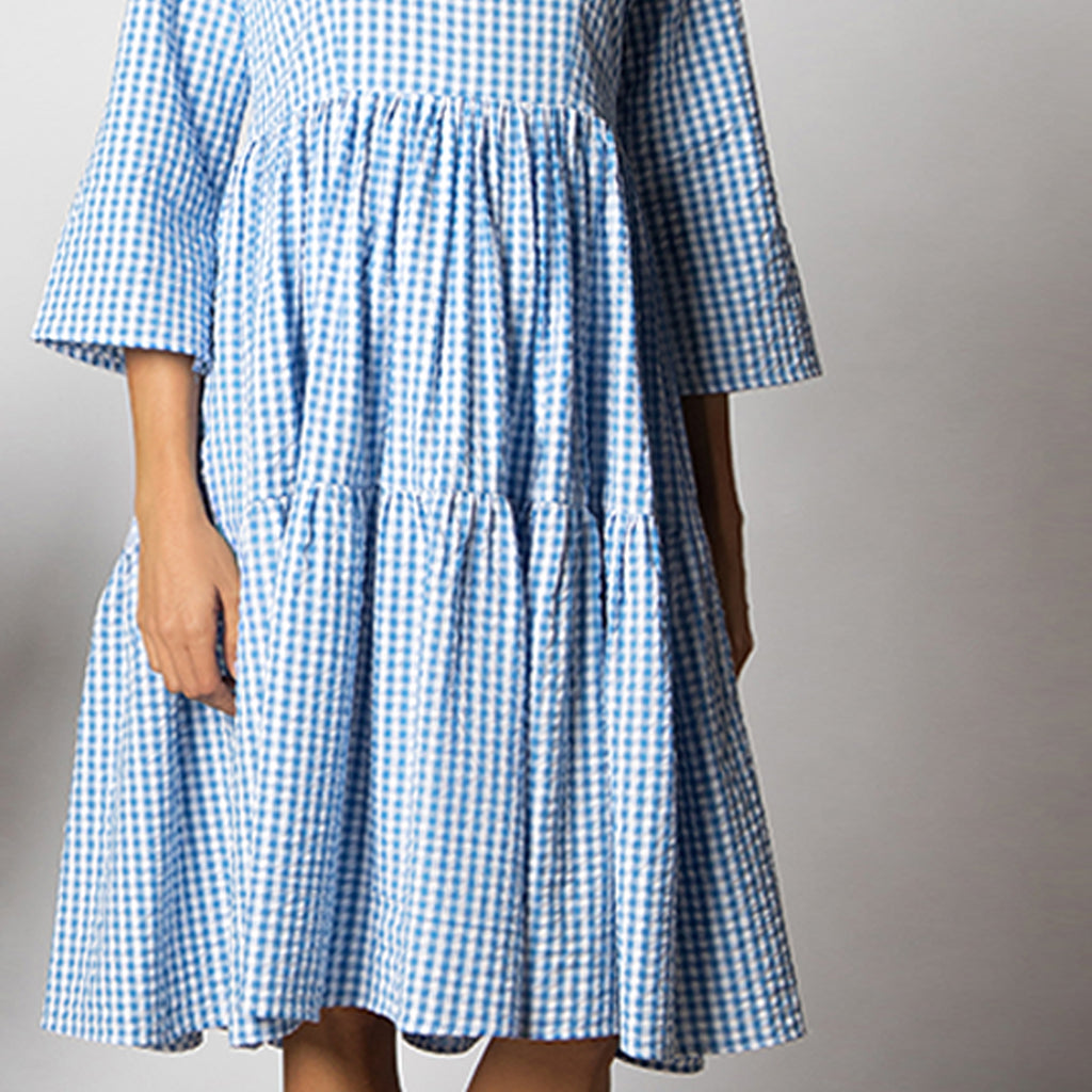 Maternity-Dresses-Rivera-Midi-Dress-Blue-White-Gingham-Checks-Image3