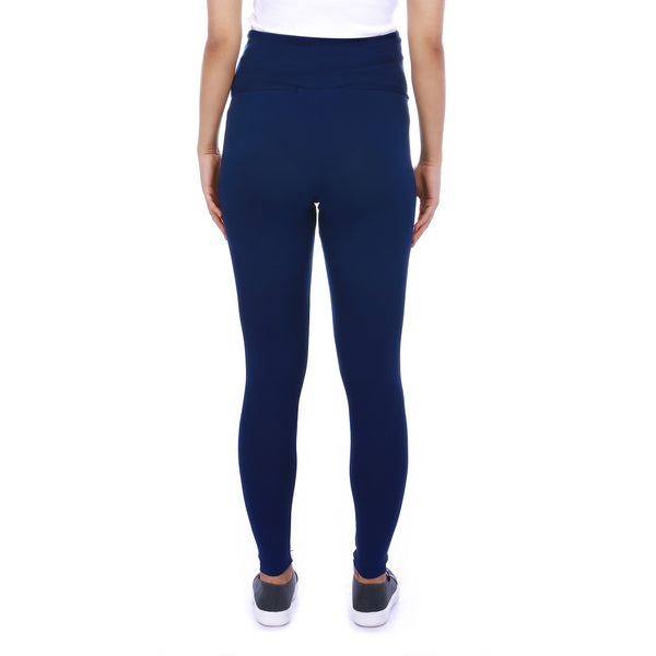 BUMP LEGGINGS - COBALT BLUE