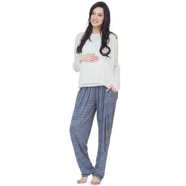 SLUB PYJAMA PANTS, Maternity BOTTOMS @ The Mommy Collective - 1