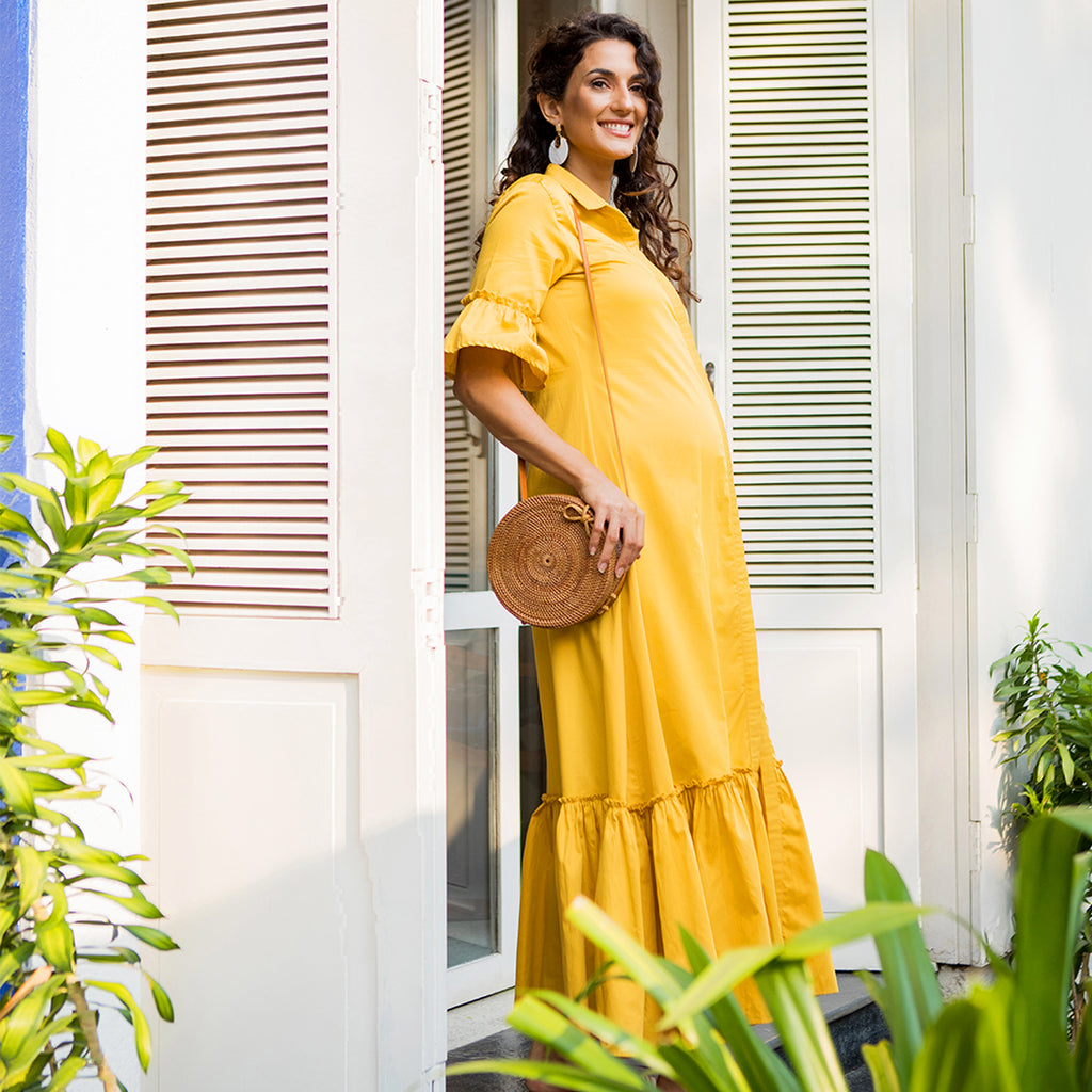 Maternity-Dresses-Maia-Maxi-Dress-Tuscan-Yellow-Image2