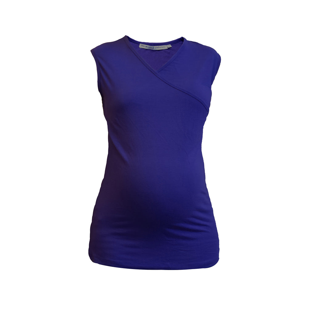 Maternity-Dresses-The-Nursing-Top-Royal-Blue