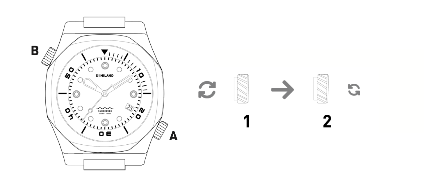 D1 Milano Diver Specifications