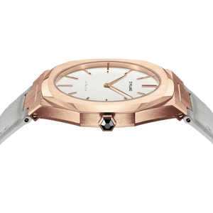 Ultra Thin Leather 38 mm - Rose gold/Turtledove