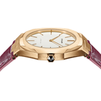 Ultra Thin Leather 38 mm - Gold/Plum