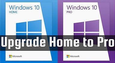 Windows 10 Upgrade Key Home to Pro