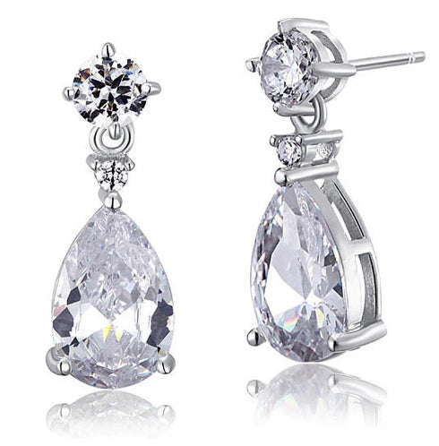 Silver Pearl Bridal Earring