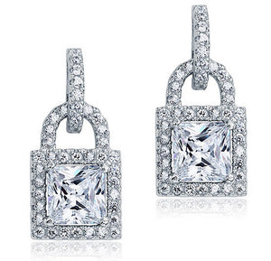 Princes Heart Lock Earring