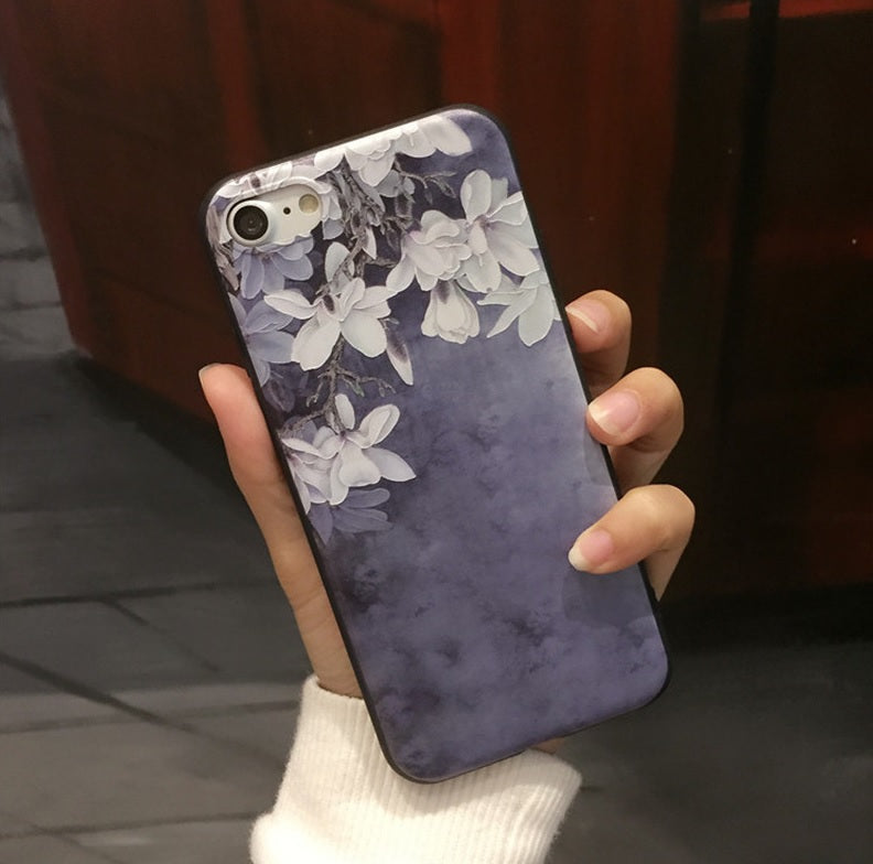 Orchid Flower Silicone IPhone Case