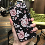 Pink & White Roses Silicon IPhone Case