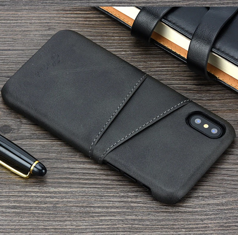 Slim & Luxury PU Leather IPhone Case