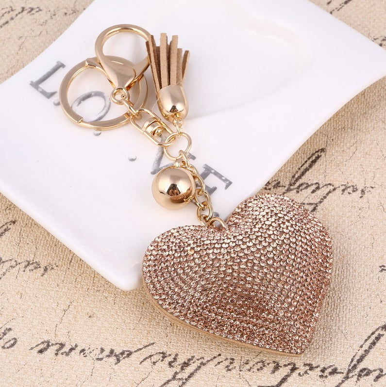 Gold Heart Keychain