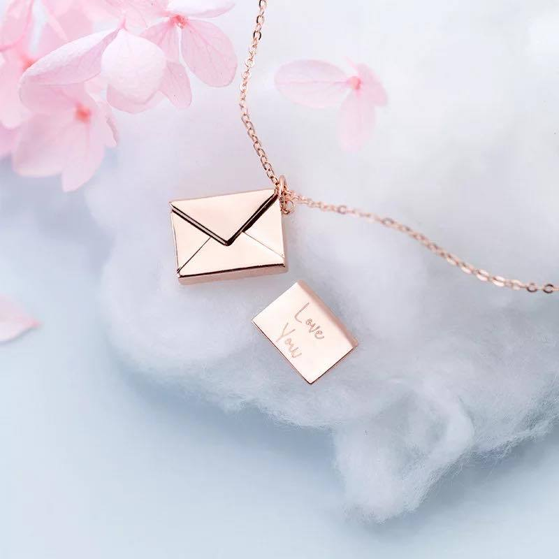 """LOVE YOU"" ENVELOPE NECKLACE"