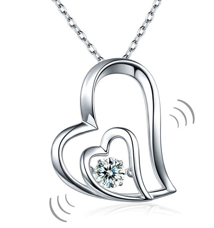 Heart to Heart Dancing Pendent