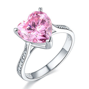 Delicate Heart Ring - Pink
