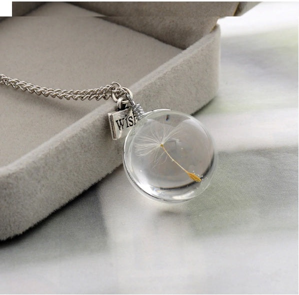 Glass Round Choker Necklace