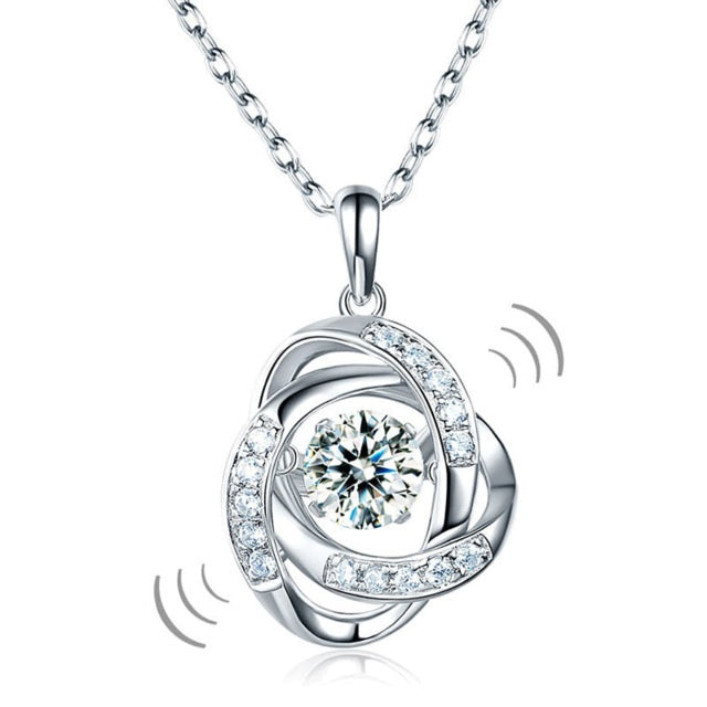 Dancing Diamond Necklace