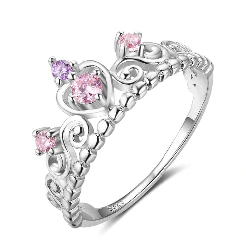 Pink Crown Ring