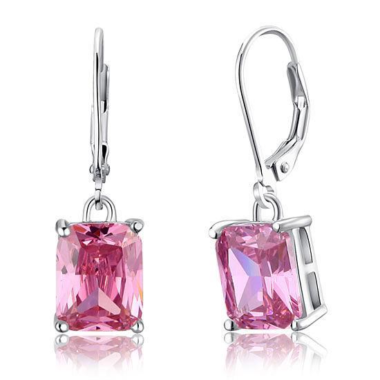 Pink Sapphire Dangle Earrings