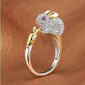 Crystal Rabbit Ring