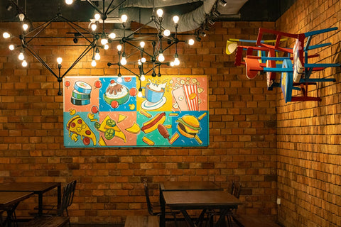 restaurant decor wall