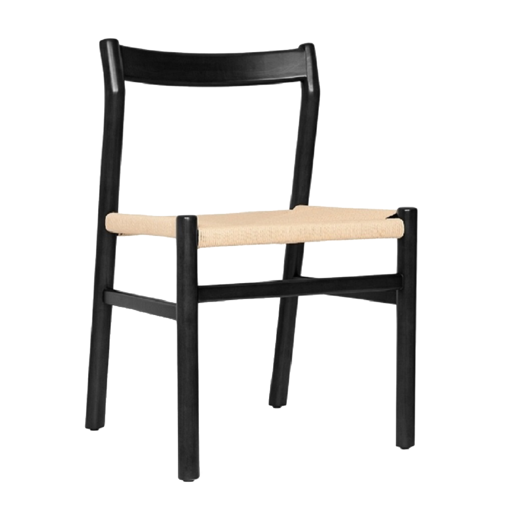 RedOAK amber dining chair hand-woven cotton rope woven seat teak white ash wood modern contemporary designers architects