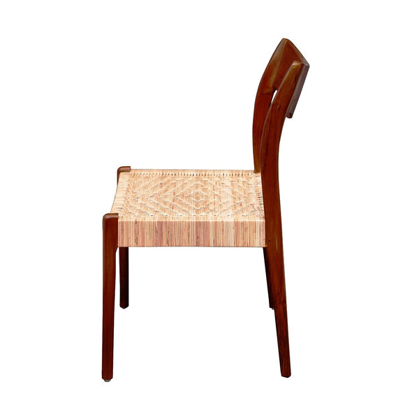 Clifford Cane - Red Oak Furniture - Teak Wood Dining Chair