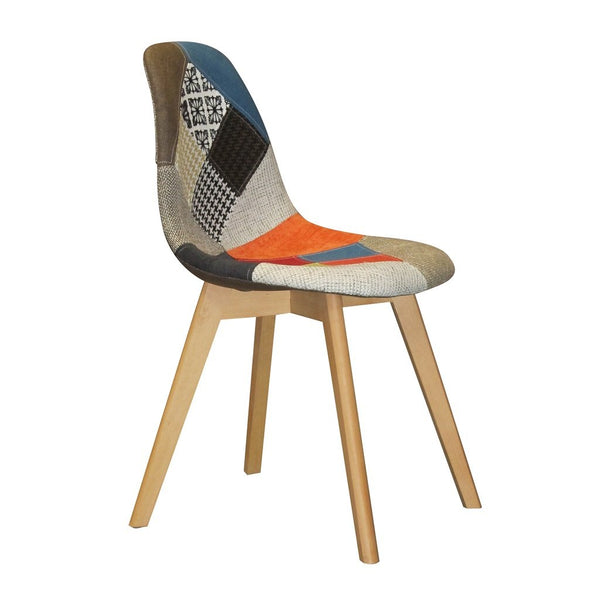 redoak barson patchwork accent chair cafeteria restaurant architects interior designers stylish modern designer mid-century eames beech wood sturdy wooden legs fabric cushion moulded comfortable ergonomic accent multi-color colorful lounge