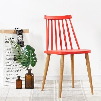 redoak red fanny cafe chair metal legs moulded seat modern stylish sturdy windsor