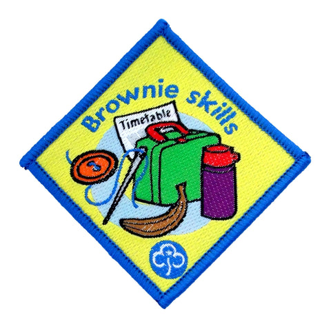 Brownie Skills Woven Badge