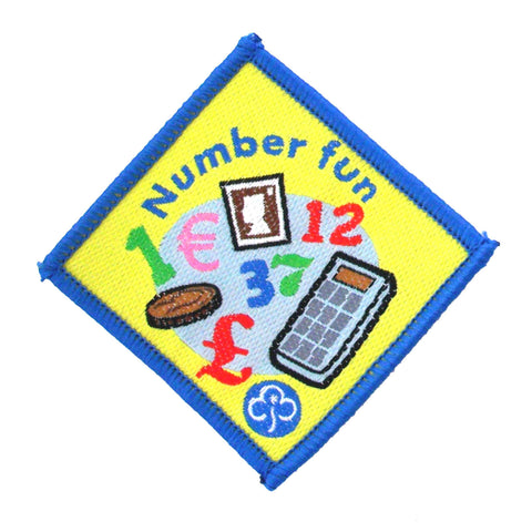 Brownie Number Fun Woven Badge