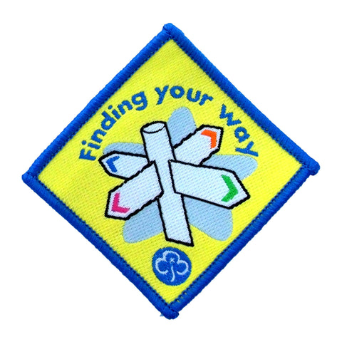 Brownie Finding Your Way Woven Badge