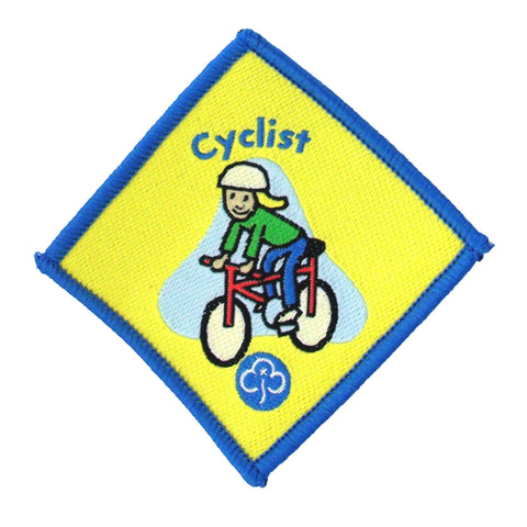 Brownie Cyclist Woven Badge