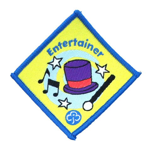 Brownie Entertainer Woven Badge