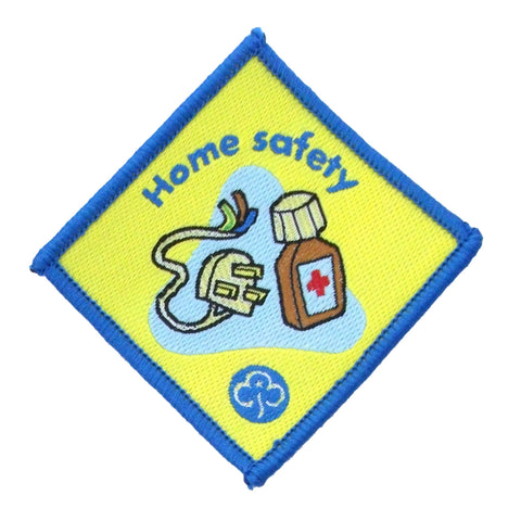 Brownie Home Safety Woven Badge