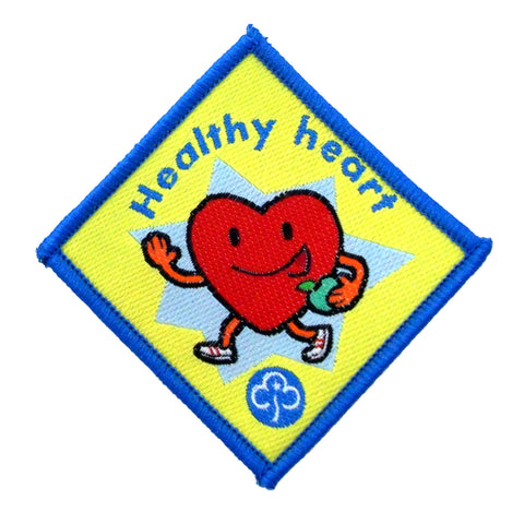 Brownie Healthy Heart Woven Badge