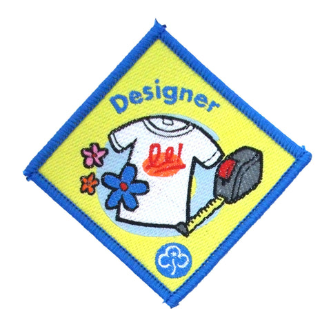 Brownie Designer Woven  Badge