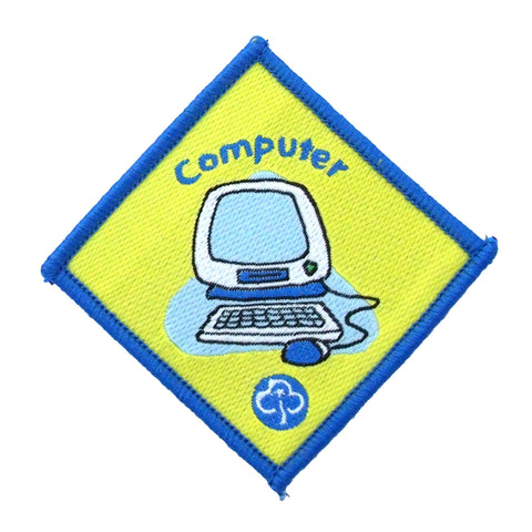 Brownie Computer Woven Badge