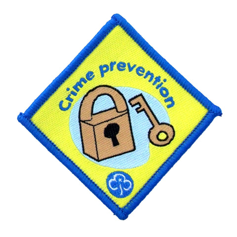 Brownie Crime Prevention Woven Badge