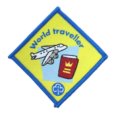 Brownie World Traveller Woven Badge