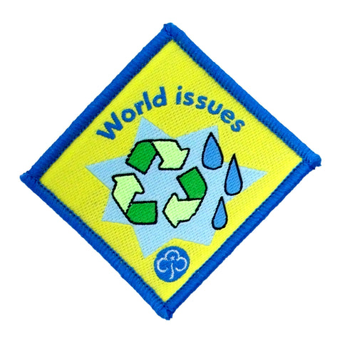Brownie World Issues Woven Badge