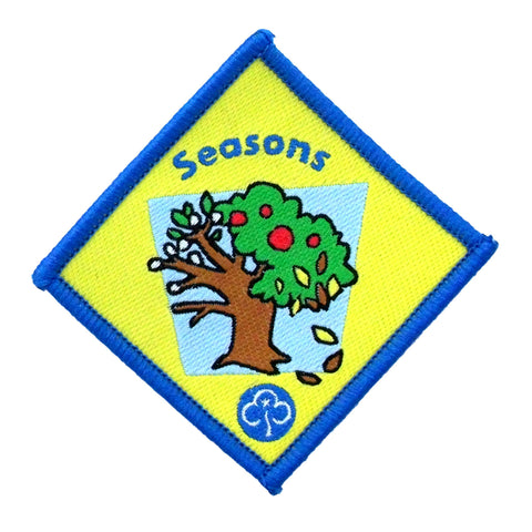 Brownie Seasons Woven Badge