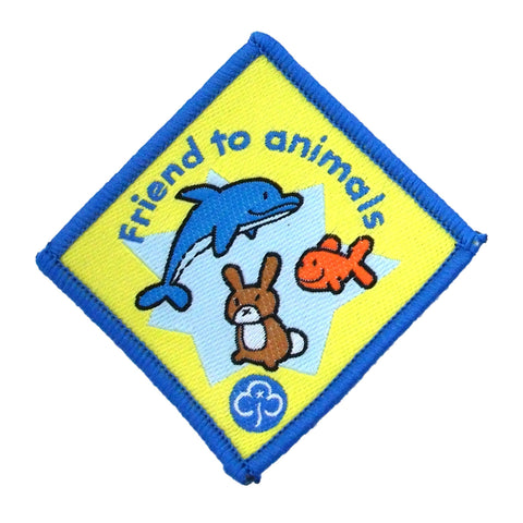 Brownie Friend to Animals Woven Badge