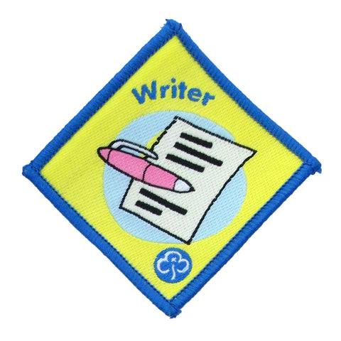 Brownie Writer Woven Badge