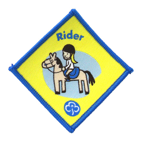 Brownie Rider Woven Badge