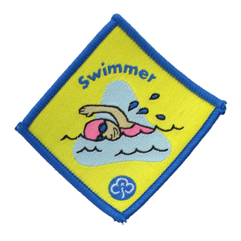 Brownie Swimmer Woven Badge